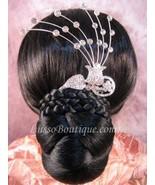 "Austrian Crystal Hair Comb ""Dora"" Bridal Clear free organza bag - $14.75"