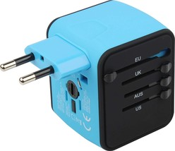 JRC-Travel Adapter Universal High Speed 3.4 A 1500W 4USB Ports All In On... - $32.59
