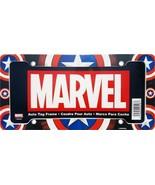 Marvel Comics Captain America Shield Black Plastic Car Auto License Plat... - $132,32 MXN