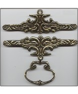 "Brass Antique Finish Bellpull pair 16cm (6.25"") 200116  - $57.60"