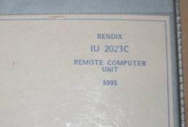 Bendix King IU-2023C Remote Computer Interface unit Maintenance manual I... - $148.50