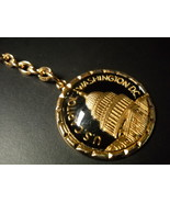 US Capitol Washington DC Key Chain Capitol Building Gold Colored Metal o... - $6.99