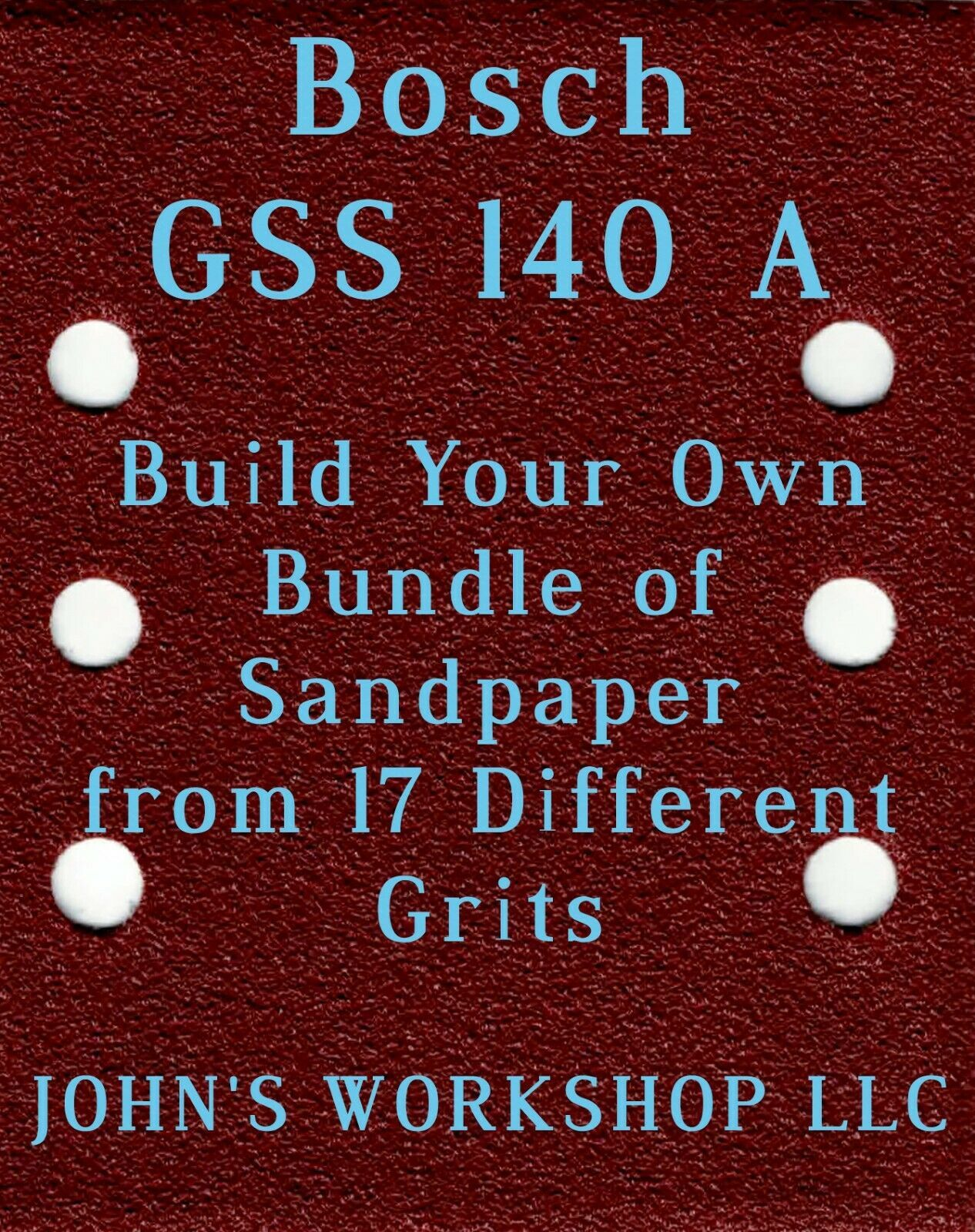 Primary image for Build Your Own Bundle Bosch GSS 140 A 1/4 Sheet No-Slip Sandpaper 17 Grits