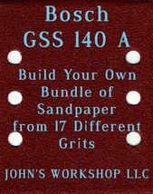 Build Your Own Bundle Bosch GSS 140 A 1/4 Sheet No-Slip Sandpaper 17 Grits - $0.99