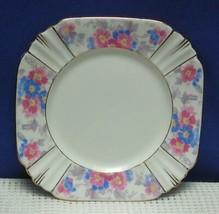 "1930's Blue & Pink Chintz Pattern 6-1/8"" SIDE PLATE Royal Albert CROWN C... - $8.72"