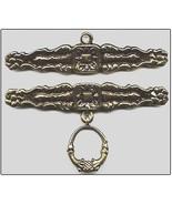 """Brass Antique Finish Bellpull pair 22cm (8 5/8"""") 200922 - $52.20"""