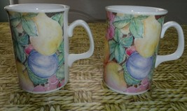 2 Royal Doulton Expressions Country Fruits Coffee Mug Fine  Beverley Hewett - $17.73