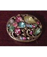SPECTACULAR CORO OVAL BROOCH PIN - $27.99
