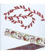 Cordinating Red Based Trim Vintage Ribbon Crafters Sewers  - $3.99