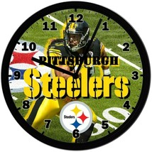 Exclusive! Pittsburgh Steelers, 8in. Unique Homemade Wall Clock, Battery... - $23.97