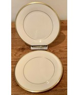"""Lenox Eternal Set of 2 Dinner Plates 10 5/8"""" Ivory Gold Trim Made in USA - $46.74"""