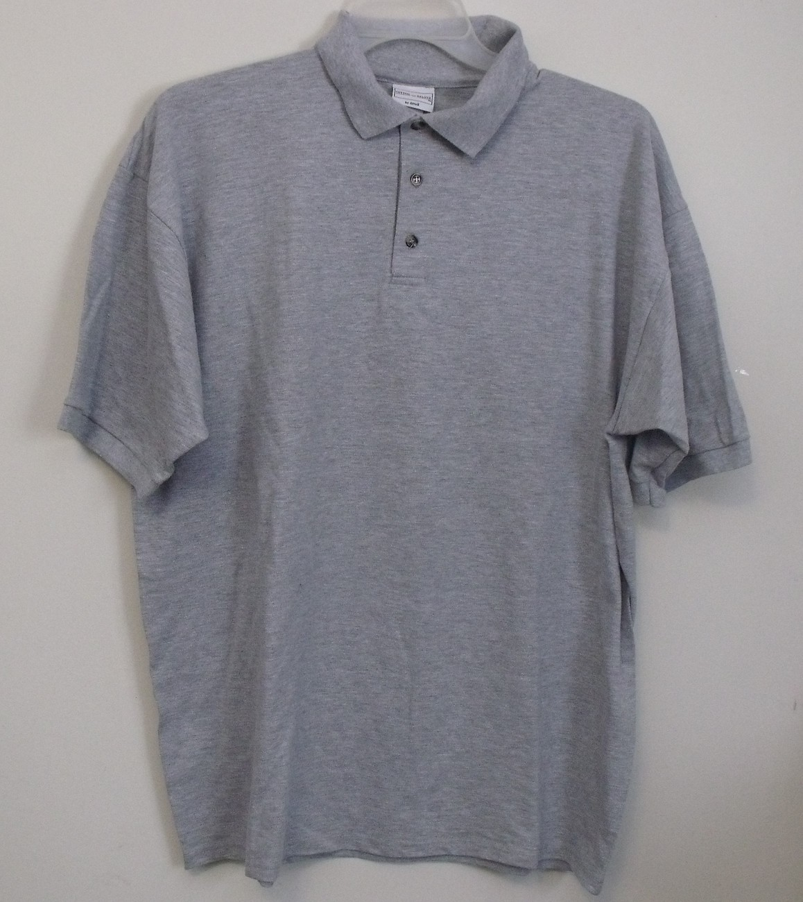 Primary image for Mens Anvil NWOT Gray Short Sleeve Polo Shirt Size XL