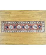 "2'7""x10' 100 Percent Wool Handmade Runner Kazak Geometric Design Rug G31638 - $419.24"