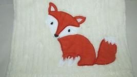 Lambs & Ivy Cream baby blanket woodland tales fox soft lightweight ribbe... - $12.86