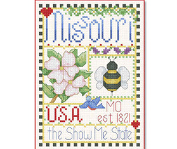 Missouri Little State Sampler cross stitch chart Alma Lynne Originals - $6.50