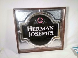 "21 1/2""X 20"" HERMAN JOSEPH'S MIRRORED BEER ADVERTISING BAR WALL SIGN - $25.73"
