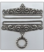 "Pewter Embossed Finish Bellpull pair 20cm (8"") PT1020 - $72.00"