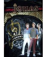 Jonas Brothers Large Backpack Nick Joe Kevin Black with Gold Glitter Sid... - $15.00