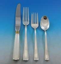 Embassy Scroll Gold by Lunt Sterling Silver Flatware Set for 8 Service 3... - $2,422.50
