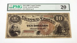 1880 $10 United States Note Fr #100 Graded by PMG as Very Fine 20 Pinholes - $841.50