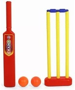 Ratna's Champ Cricket Set Kids Play Plastic Kit Bat Length 64 cm from India - $34.39