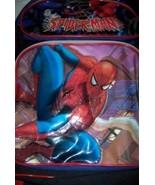 Spiderman Large Backpack Thermos NEW Marvel Side Pocket Adjustable Straps - $16.00