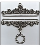 "Pewter Embossed Finish Bellpull pair 17cm (6.75"") PT717 - $61.20"