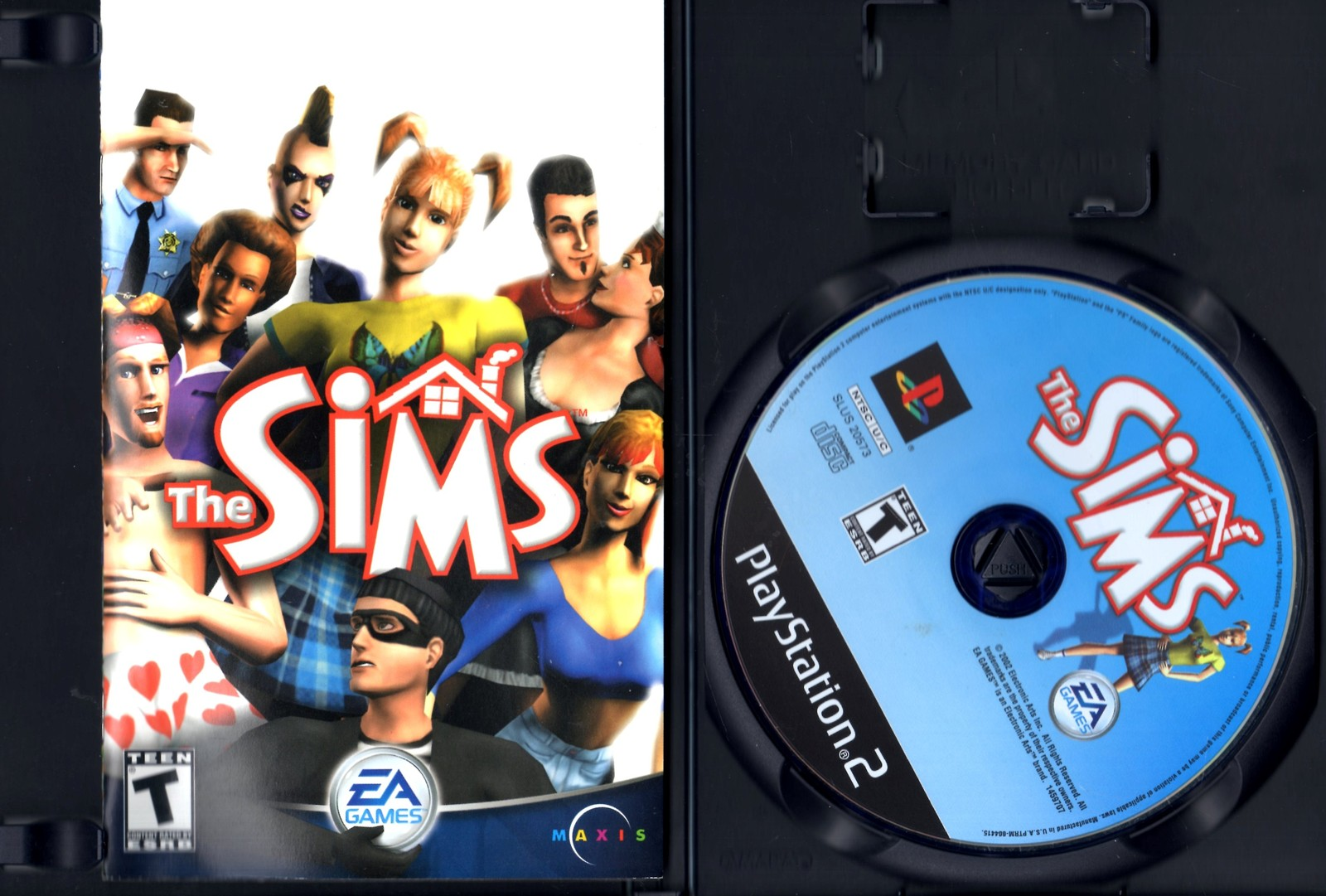 PlayStation 2 - The Sims (Complete with Instructions)