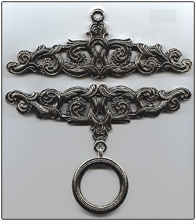 "Primary image for Pewter Embossed Finish Bellpull pair 15cm (5 7/8"") PT815"