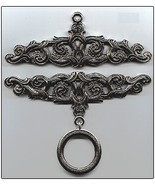 Pewter Embossed Finish Bellpull pair 15cm (5 7/... - $64.80