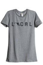Thread Tank Local Maryland State Women's Relaxed T-Shirt Tee Heather Grey - $24.99+