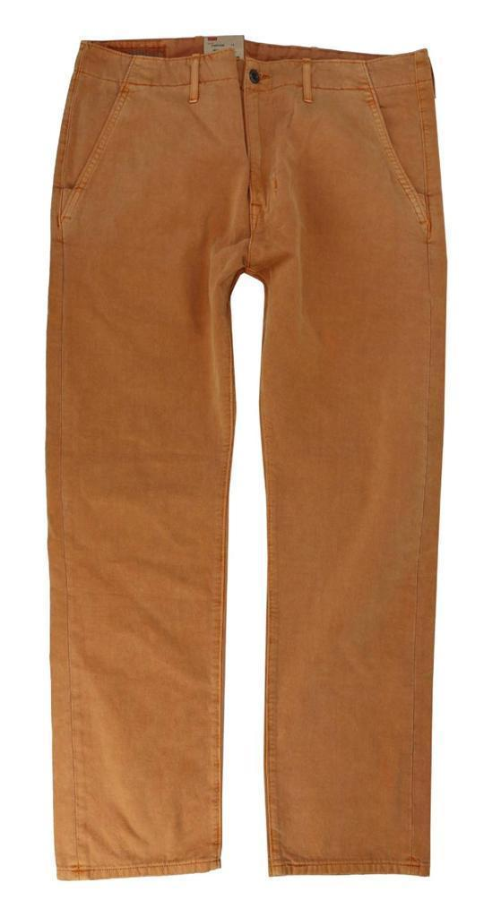 NEW NWT LEVI'S STRAUSS MEN'S ORIGINAL RELAXED FIT CHINO PANTS ORANGE 556880015