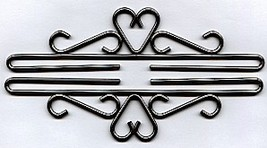 "Iron with Pewter Finish Bellpull inverted heart pair 18cm (7 1/8"") 512418 - $18.00"