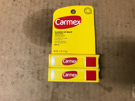 CARMEX CLASSIC MEDICATED LIP BALM SPF 15 TRUSTED RELIEF (Pack of 2) - $5.44