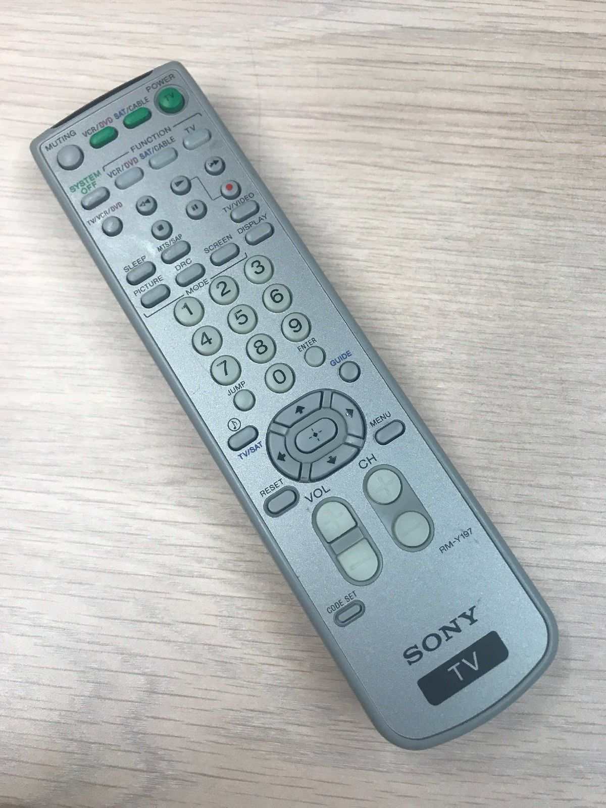 Remote Control Sony RM-Y197 -TESTED-                                        (U9)