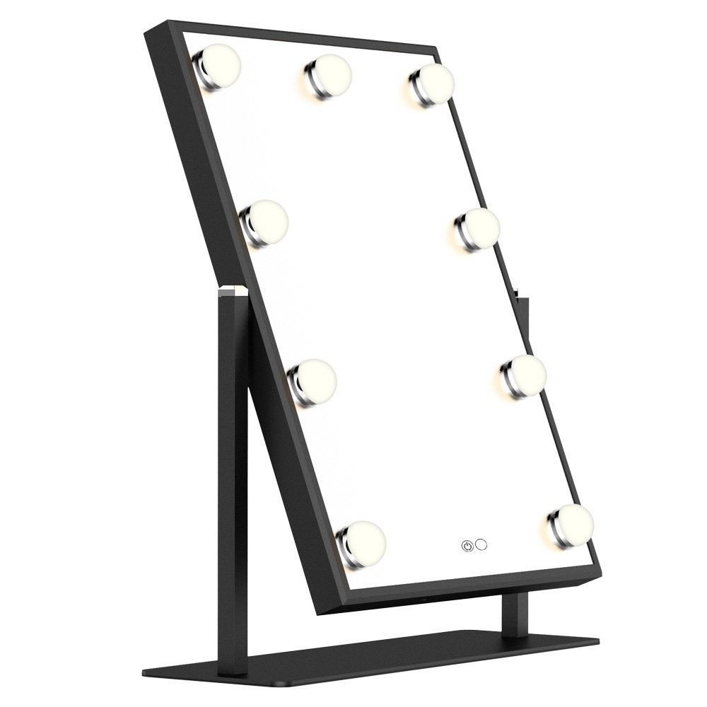 57 Lighted Vanity Mirror With Dimmable Touch Control Hollywood Style Makeup