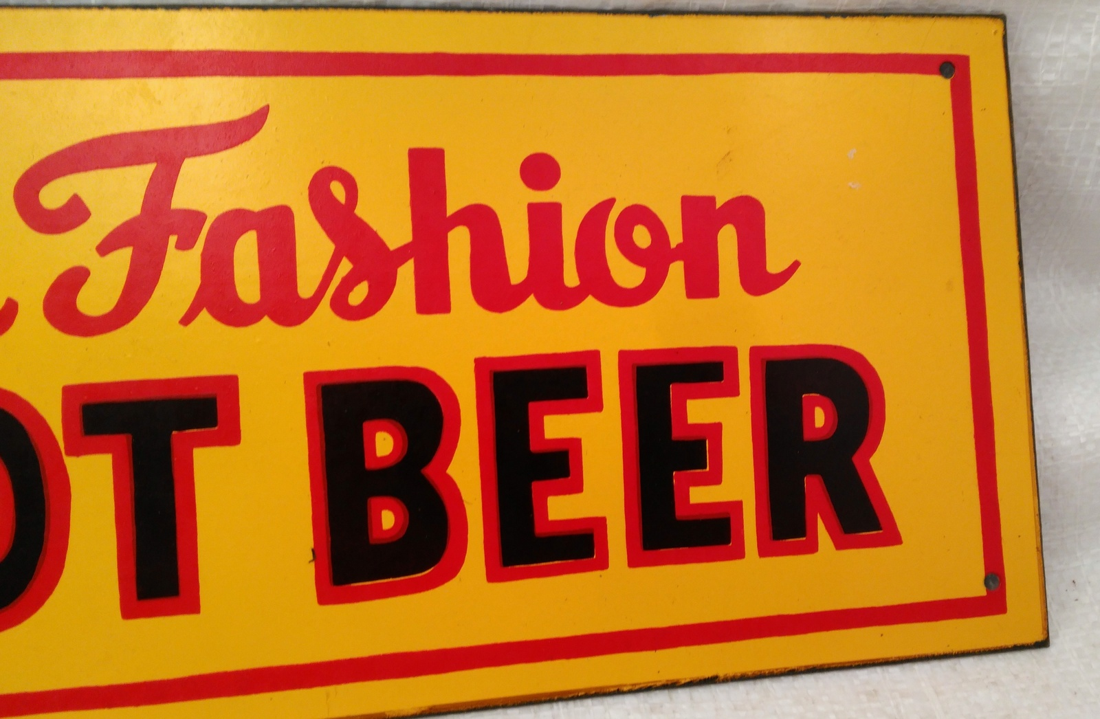 """Tin Sign """"Old Fashioned Root Beer"""""""