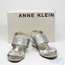 New AK Anne Klein Sport Women's Maddie Synthetic, Silver Synthetic, 8 M US - $53.35