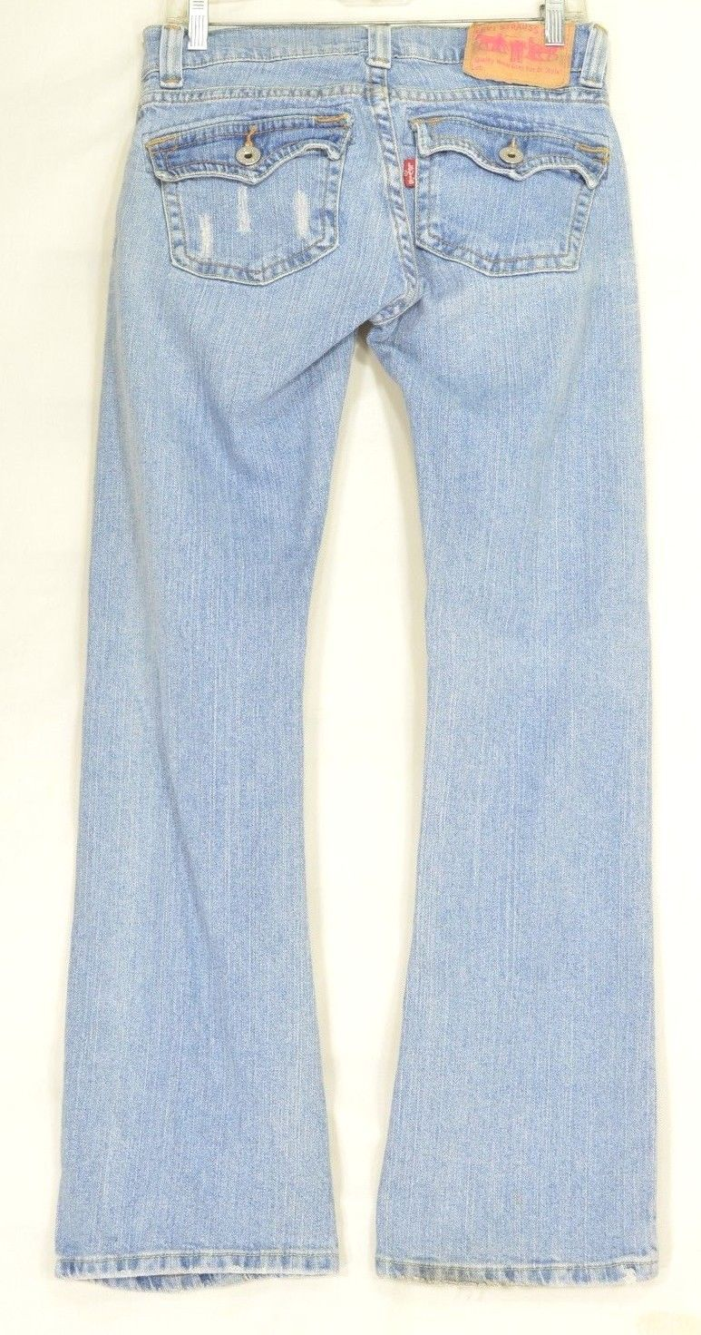 Levi 504 VTg jean slouch 9 x 31 flare twisted leg flap back pockets distressed