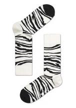 Happy Socks Unisex Combed Cotton Crew Animal in Ivory - $10.80