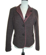 MAX MARA Weekend reversible dusty plum quilted/heather wool button jacke... - $148.50