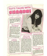 Shannen Doherty teen magazine clipping Tutti Frutti talks with Shannen - $3.50