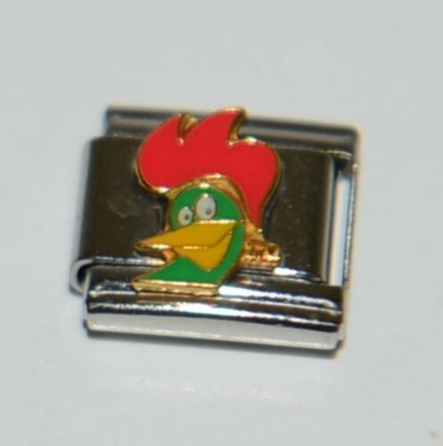 Casa Doro 9236 Corn Flakes Rooster Charm Link Stainless Steel