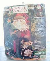 1996 Dimensions Bottle Buddies Kit Santa man Craft kitsch no sewing New Vtg - $15.79