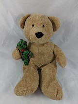 "Ty Pluffies Brown Bear Plush w/ Teddy Bear 10"" 2005 Stuffed Animal - $4.65"