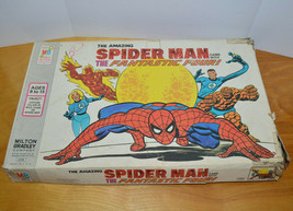 Vintage The Amazing SPIDER-MAN With Fantastic Four Board Game 1977 - $15.47