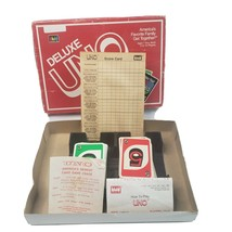 Deluxe Uno Card Game 100% Complete International Games 1986 Vintage Scor... - $16.99