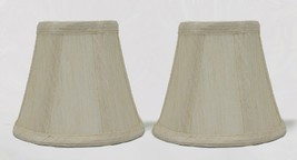 "Urbanest Cream Chandelier Mini Lamp Shades Bell Softback 3""x5""x4.5"" set of 2 - $15.35"