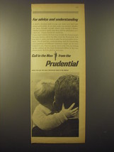 1965 Prudential Insurance Ad - For advice and understanding - $14.99