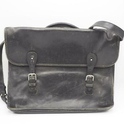 Primary image for Vintage Coach All Leather Briefcase L7C-5294 Black